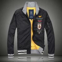 2014 New Men Spring Autumn Fleece Linner Jacket,Stand Rib Collar & Sleeve Air Force One Windbreaker,Aeronautica Militare Coat