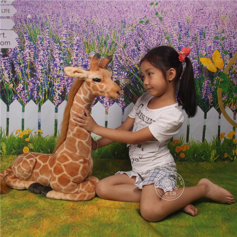 Free shipping New Stuffed Plush animal Toy Doll Simulation Giraffe Deer Lying Large Children's Xmas Gift Home decoration Quality(China (Mainland))