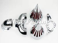 Motorcycle Air Spike Filter ForFor Harley Davidson CV Carburetor For Delph i V-Twin Air Cleaner Kits Chrome Black