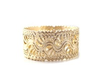 Free Shipping New Arrived -- (6pcs/lot) Fashion Bohemia Style Gold Tone Flower Pattern Bangle Bracelet for women girl!