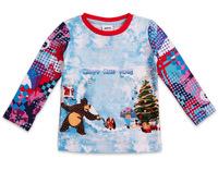 2014 New Children's Cartoon T-shirt Fashion European Style Cotton Round Neck Long-Sleeved T-shirt  Free Shipping  Boys