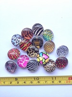 FREE SHIPPING 18MM(DIA) ANIMAL PRINT SERIES MIXED DESIGNS SNAPS BUTTON FIT BRACELET RING NECKLACE JEWELRY 40PCS/LOT