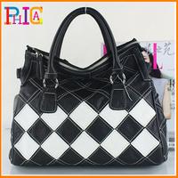 K613  2014 New Arrival Lady Handbag All-match Patchwork Bag Women's Handbags Brief Large Capacity Shoulder Totes Plaid Bags