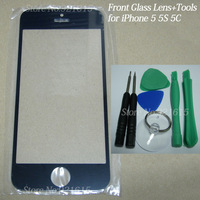 NEW 30Set/Lot Touch Screen Faceplate Front Glass Lens with Screwdrivers Repair Opening Tool Set for iPhone 5S 5C 5 Black/White