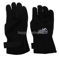 Winter Diving Gloves Swimming Hand Wear Antiskid SCR Neoprene Black M  H1E1