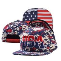 2014 fashion adult USA flag hats caps visor 1pcs AH021R