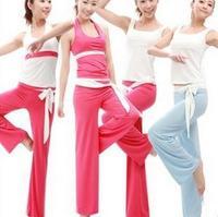 Good Quality 2014 New Women's Sports Suit Yoga Fitness Clothing Set Aerobics Clothing For Women