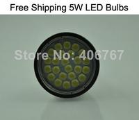 Wholesale Free Shipping 24PCS 5050 SMD Dimmable LED Spotlight GU10 5W LED Bulbs 300PCS/lot