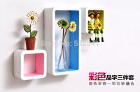 Free Shipping For Decoration  Oration Partition Shelf Derlook Bookshelf TV Background Wall Plaid Paint Rack