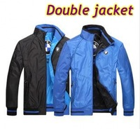 2014 new men's winter fashion sports wear jackets double collar men's coat, full size, free shipping!