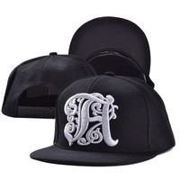 2014 fashion adult cool letter tatoo black hats caps visor 1pcs AH012R