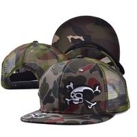 2014 fashion adult women men skull cool casual cool hats caps visor 1pcs AH010R