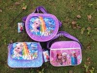 Frozen school bags for girls 12 pcs/lot Anna Elsa Olaf Prince bags for kids children school bag free shipping PU frozen bags