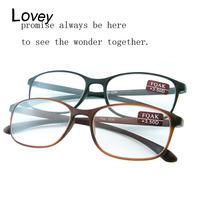 Lovey popular large frame tr90 reading glasses men women unisex ultra-light comfortable flexiable presbyopic magnifier wholesale
