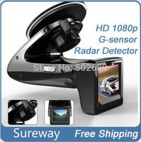 New Products Car DVR SH818 with Radar Detector/E-Dog + HD 720P + H.264 + G-Sensor + Russian Language + Wide Angle 140 Degree