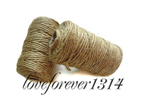 Baby Shower DIY Favour 50 meters 3 Ply Natural Jute Twine Rope For Wedding Party Handmade Accessory Papercrafting Favor Supplies