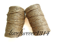 High Quanlity 50 meters 3 Ply Natural Jute Twine Rope For Wedding Party Handmade Accessory Papercrafting Favor Supplies