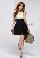 2014 New Woman's Fashion Hot Selling Lace Patchwork Dress Tank Dress Lovely Dresses #3 SV000396