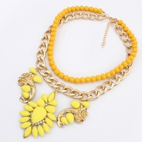 brand new fashion chunky choker necklaces women 2014 jewelry statement floral necklaces wholesale