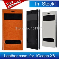 High Quality Iocean X8 PU Leather Case Flip Cover Case For Iocean X8 Smart Phone Black White Brown/Oliver