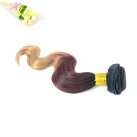 Wholesale Body Wave Three Tone Ombre Hair Extension Cheap Brazilian Hair 3 Pcs Lot Free Shipping