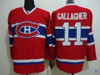 Cheap Hockey jersey Free Shipping,2013 Montreal Canadiens 11# Brendan Gallagher Red Ice Hockey Jersey Embroidery logos