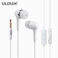 ULDUM simple design stereo headsets with mic mp3 mp4 headphones in ear earphones