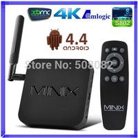 MINIX NEO X8 Amlogic S802 Quad Core Android TV BOX 2GB RAM 8GB Dual Band 4K UHD 2.4G/5.8G WIFI Bluetooth 4.0 XBMC Android 4.4