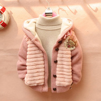 new autumn Children's Fashion 2014 Outerwear Clothing Girls Faux Fur Warm Coats & Jackets