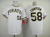 Baseball Jerseys Brandon Cumpton  #58 White 2013 Alternate 2  Coolbase Baseball Jersey size:48~56+Mix Order,Free Shipping
