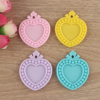 50pcs Inner size 25mm Random Mixed Heart Flat back Resin Cameo Frame DIY Decoration for Jewelry
