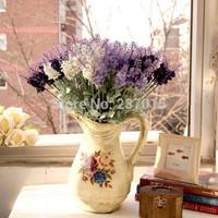 1 Bouquet Artificial Lavender Silk Flower Wedding Home Garden Party Decor DIY Free Shipping