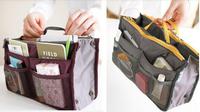 Double zipper portable multifunctional travel pockets Handbag Storage bag,Cosmetic Bag in bag,Fadish travel Cosmetic Makeup Bag