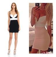 Free shipping 2014 low price sexy women's bandage mini party dress