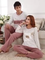 Twinset Fashion Stripe Long Sleeve Comfortable Homewear for Unisex Men Women Pajama Sets Couple Sleepwear Cotton Indoor Clothing