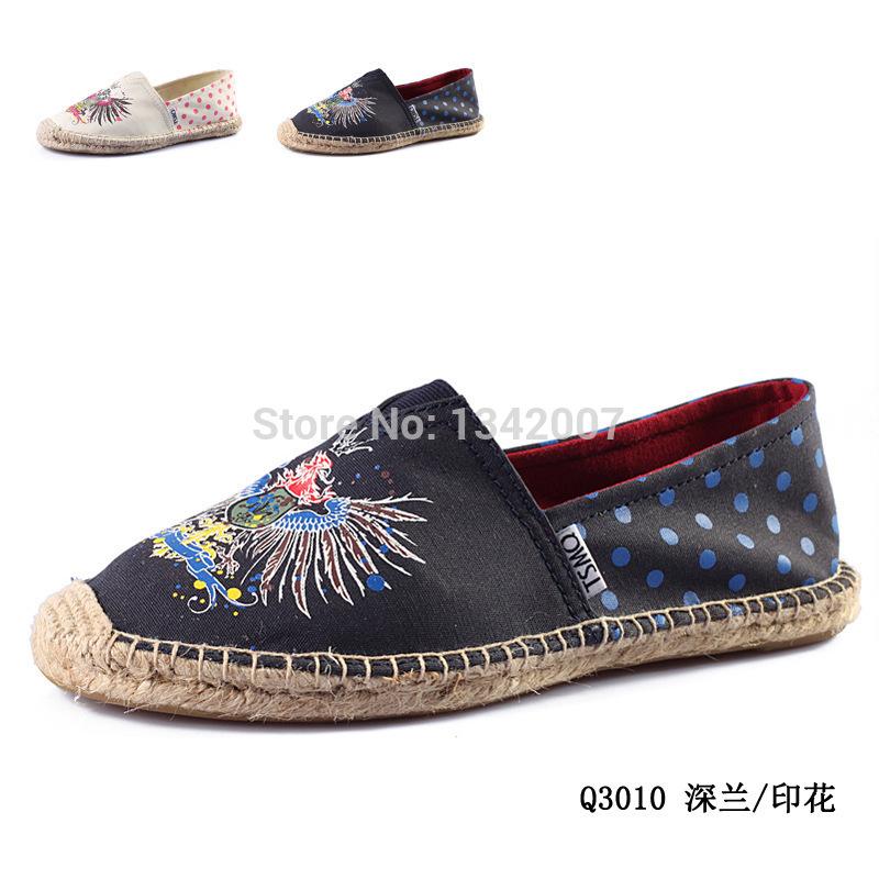 Tamanho 35-40 Graffiti Alpargata sapatas de lona mulheres deslizar sobre alpercatas sandálias sapatos Flats Boho sapatos pescador(China (Mainland))