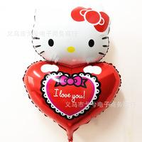 74*48cm Wholesale Hello Kitty Love Balloons Party Ball Wedding Happy Birthday Decoration Balloon Kids Inflatable Toys