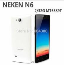 Original brand new Neken N6 MTK6592 Octa Core Android smartphone RAM 2GB ROM 16GB 1.5GHz WCDMA GSM 5.0 inch IPS Free Shipping