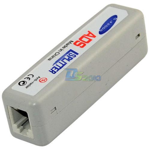 Rectangle ADSL Broadband Modem Office Home Phone Line Splitter Filter Connector(China (Mainland))