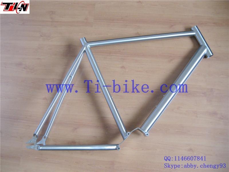 DI2 3AL2.4V Titanium fixed gear bike frame road bike frame titanium bike frame for track(China (Mainland))