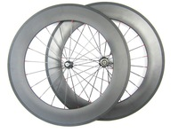carbon fiber tubular road bike wheelset in stock,25mm width carbon wheels 88mm depth