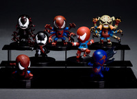 7pcs Marvel Classic Superhero The Amazing Spider-Man/Peter Parker Venom Super Cute PVC Figure Toys New Loose