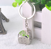 ZT050  Lovers  keychains Personality dice key chain  2*2*2CM  Free shipping