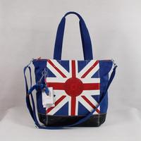 UK Flag pattern original style Water Resistant Crinkle nylon bags women messenger bag furry monkey bags blue KP12272269