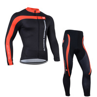 free shipping 2014 Castelli Black and red Long Sleeve Cycling Jersey And Pants/Bicycle Wear/Biking Clothes