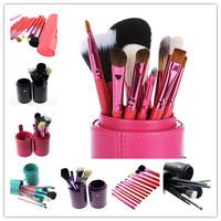12PCS/set Makeup Brushes Professional Styling Tools Goat Hair Blush Foundation Brush Make Up Kit Free Shipping