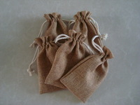 free shipping high quality jute burlap cotton drawstring pouch bag for gift jewelry