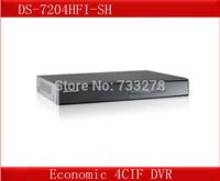 DS-7204HFI-SH,Hikvision 4 Channel DVR,Economic 4CIF DVR,HDMI&VGA Output at 1920*1080p resolution,Dual-stream CCTV Security