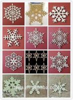 christmas day ornament wood snowflake