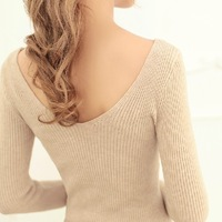 2014 new free shipping bottoming sweater, V-neck loose women, pullover sweater coat winter sweet